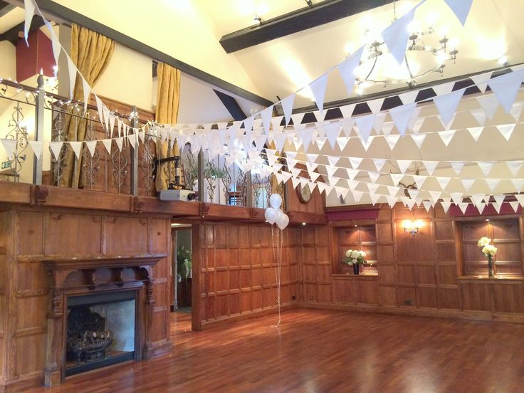 Clean crisp white bunting to add depth to any room