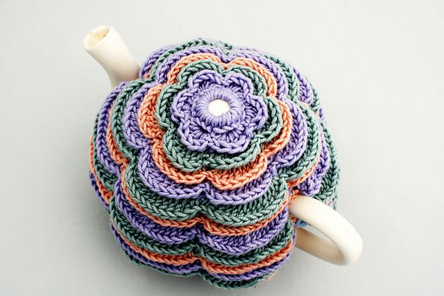Ravelry: Sweet Flowers Tea Cosy pattern by Catherine Hirst