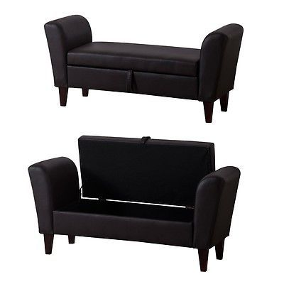 Storage #bench seat hall sofa leather #ottoman footstool living room #furniture u, View more on the LINK: http://www.zeppy.io/product/gb/2/232003226089/