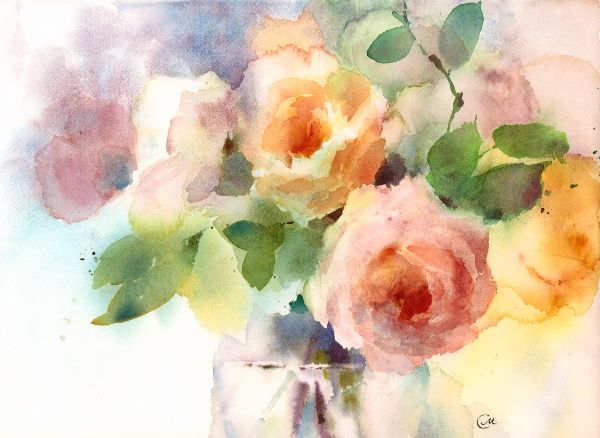 Wet-in-wet watercolor painting can be challenging, but it will be much easier with these tips and tricks!