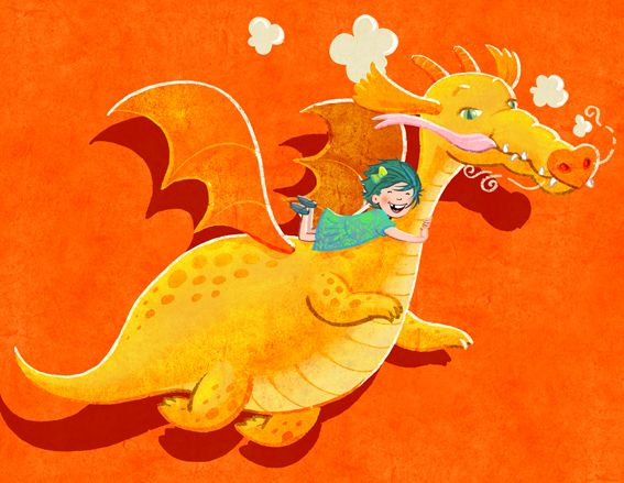 Flying dragon for a colour collective submission.