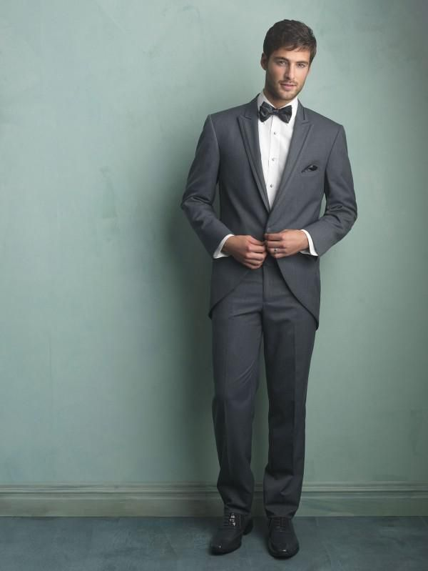 Purple Prom Tuxedos New Arrival Handsome Grey One Button Groom Tuxedos Best Man Wedding Suits Bridegroom Prom Party Tuxedos Jacket+Pants+Tie Designer Tuxedos From Welovelife, $83.77| Dhgate.Com