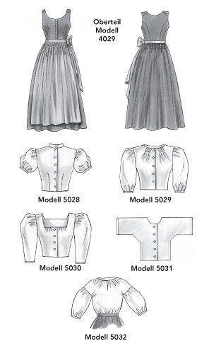 Schnittmusterbogen Dirndl ✓ Nice blouse pattern.