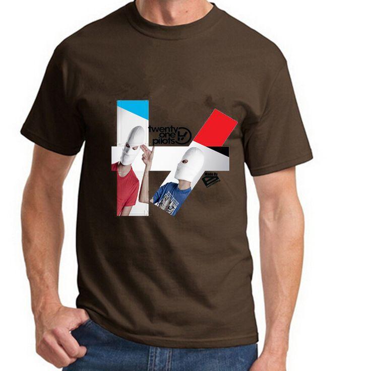 >> Click to Buy << Men Tops Tees twenty one pilots with gun Fashion Men T-shirts 2016 Tops Tee Cotton O-neck Chocolate Black White  #Affiliate