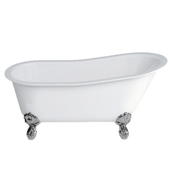 22837F/22837WF/22837BF Romano Grande Stone Bath With Claw Feet #abeyaustralia #garethashton #clawfootbath