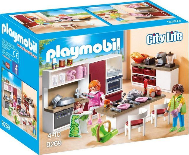 Playmobil Konstruktions Spielset Grosse Familienkuche 9269 City Life Made In Germany Online Kaufen In 2020 Playmobil Familienkuche Playmobil Haus