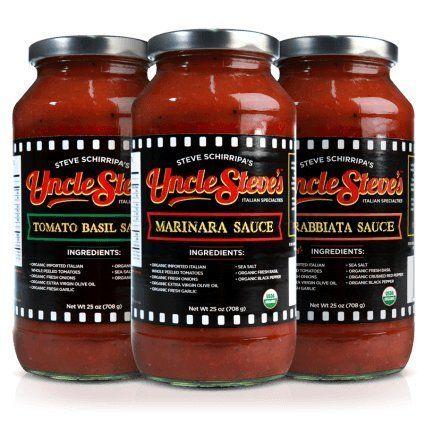 Tomato Basil, Marinara and Arrabiata pasta sauces are each hand crafted with organic Italian whole peeled tomatoes, organic fresh onions, organic extra virgin olive oil, organic fr
