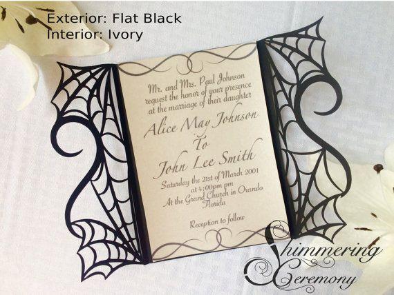 gotische Spinne Web Halloween Hochzeit von ShimmeringCeremony