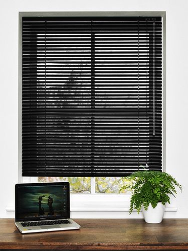 Essence Black Gloss Venetian Blind - 25mm Slat from Blinds 2go