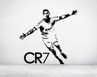 Voetballer Cristiano Ronaldo CR7 Real Madrid Portugal Sticker Decal kunst aan de muur. Alle kleuren en maten. (#137)