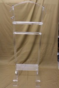 Vintage-Mid-Century-Mod-Clear-Acrylic-Lucite-Butler-VALET-Coat-Tree-Clothes-Rack