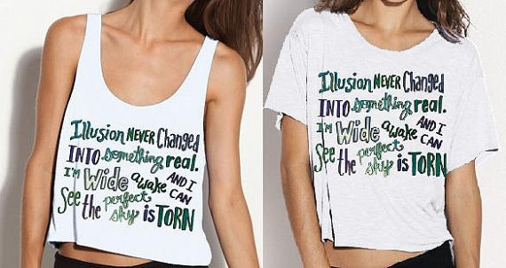 One Direction Torn Lyric Shirt PREORDER by StylesShop on Etsy, $26.00