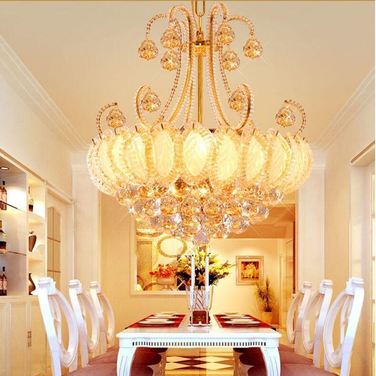 Find More Chandeliers Information About Modern K9 Gold Crystal Chandelier Lighting LED Ceiling Lamps Lustres De