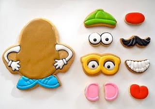mr. potato head cookie: Kids Parties, Potato Heads, Birthday Parties, Potatoes Head, Cute Ideas, Decor Cookies, Cookies Cutters, Toys Stories, Head Cookies