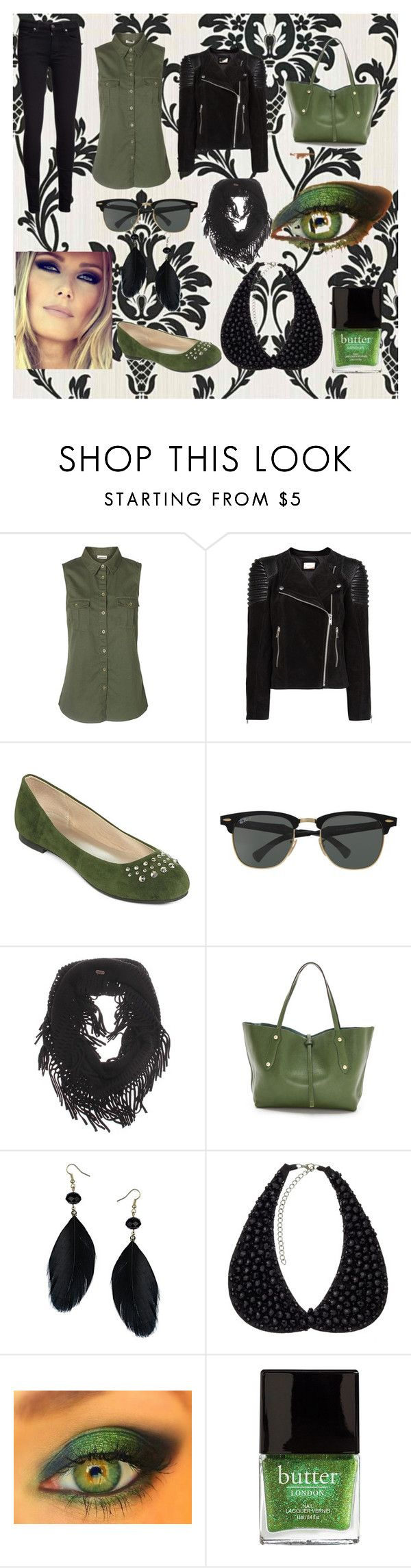 """""""kaki-lili"""" by elisa-30 ❤ liked on Polyvore featuring 7 For All Mankind, Vero Moda, MANGO, Totes, Ray-Ban, Vans, Annabel Ingall, Dorothy Perkins, Jigsaw and Butter London"""