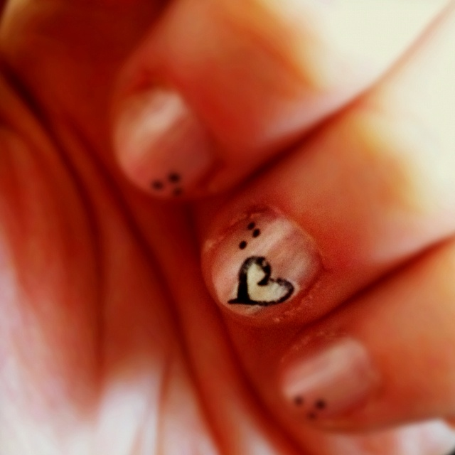 Me doodling on my nails.