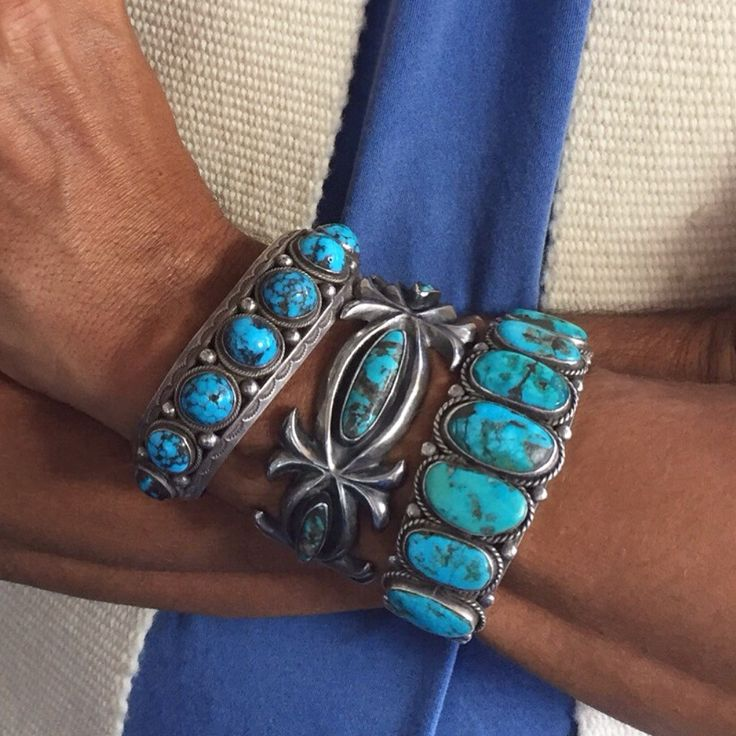 antique silver and turquoise...gorgeous combo