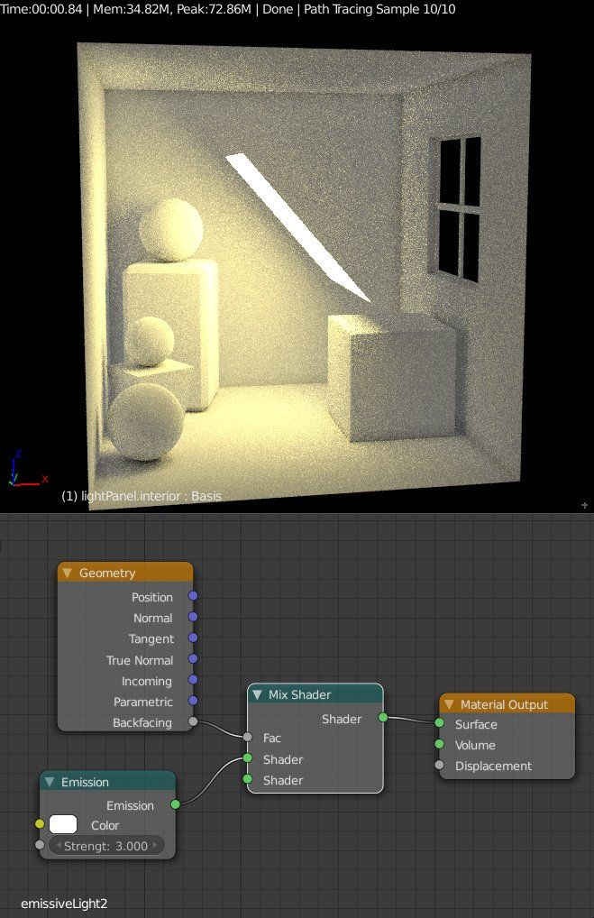Single-Sided Emission In Blender Cycles : blender lighting tutorial - azcodes.com