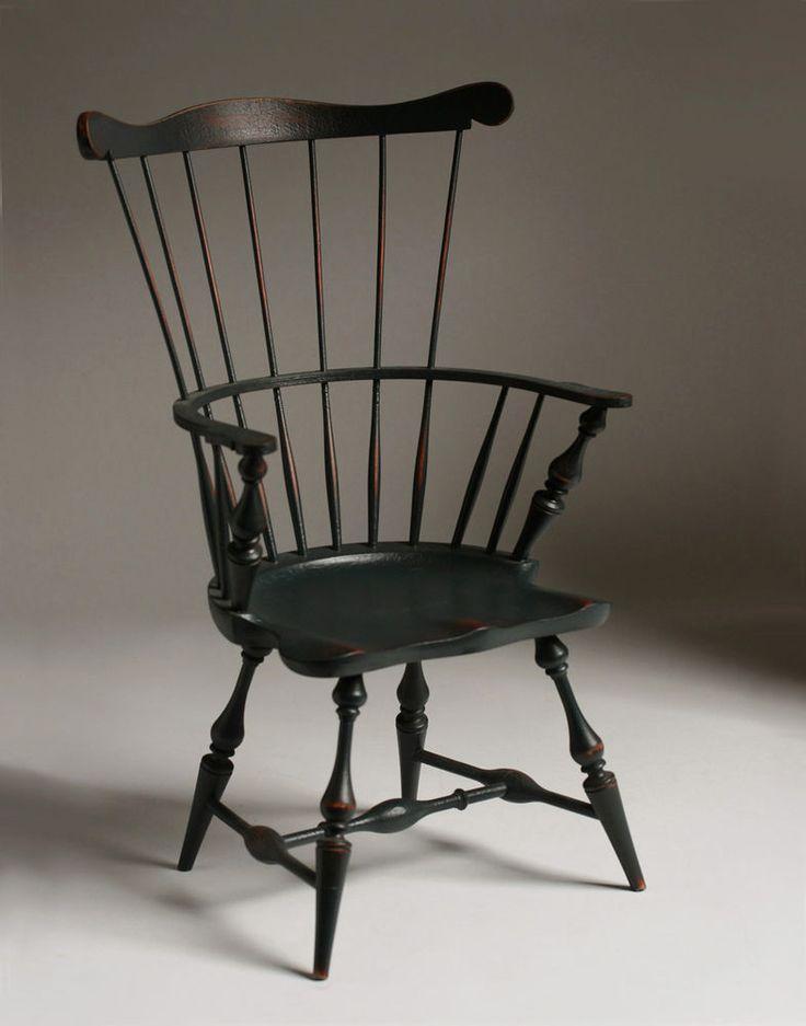 Miniature Salesman Sample Windsor Chair / River Bend Chair Company - Doll House #Americana #RiverBendChairCompany