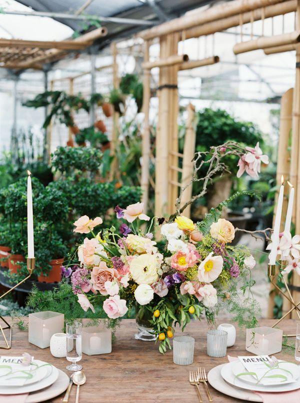 Tropical Greenhouse Wedding Ideas - photo by Green Apple Photography http://ruffledblog.com/tropical-greenhouse-wedding-ideas | Ruffled