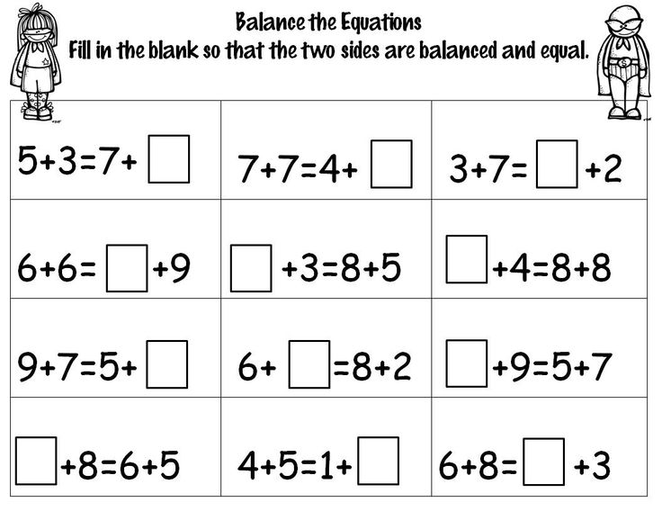1000 images about MathBalancing equations missing addend on – Balancing Math Equations Worksheet