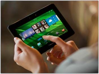 Blackberry Playbook 7-Inch Tablet (16GB)  http://j.mp/xRC2pi      * BlackBerry Tablet Os, 1 GHz dual-core processor.      * It has 1 GB of RAM, 16 GB for storage.      * It has 7 inch multi-touch capacitive LCD screen, 1024 x 600-pixel resolution.      * Wireless-N Wi-Fi (802.11a/b/g/n).      * 0.9 pounds (15 ounces).  http://j.mp/xRC2pi
