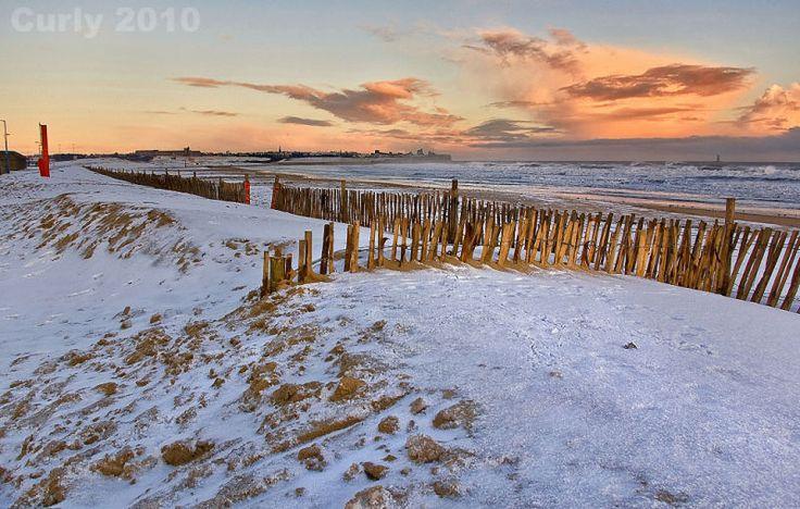 Sanhaven Beach in Winter, South Tyneside.