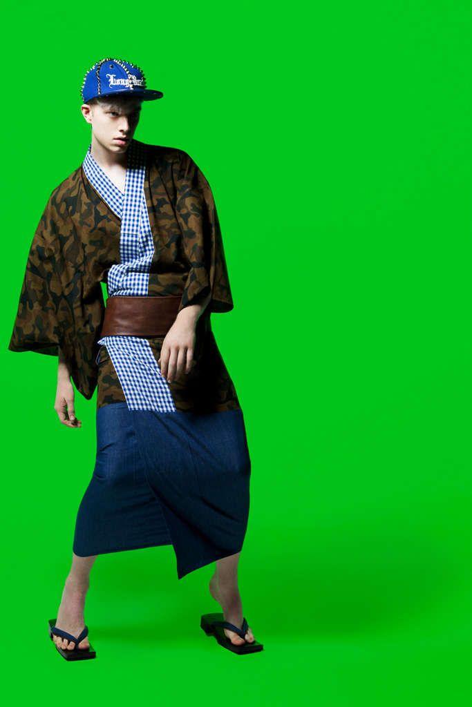 Casual Samurai Fashion : Men's Kimonos : Isetan Shinjuku and Japanese Designers Create Hip Men's Kimonos