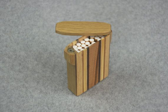 Handcrafted Wooden Cigarette Case with Magnetic Lid - Handcrafted Smoking Accessory - Smoker's Gift - Wooden Cigarette, Coin or Trinket Box