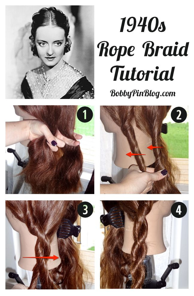 1940s rope braid tutorial steps