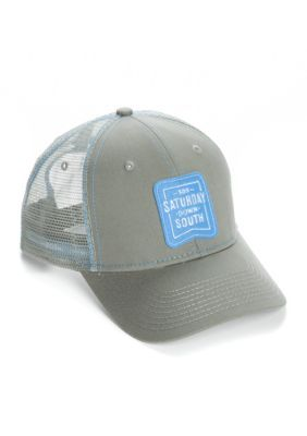 Saturday Down South Men's Unc Patch Trucker Hat - Charcoal/ Blue - One Size Fits All