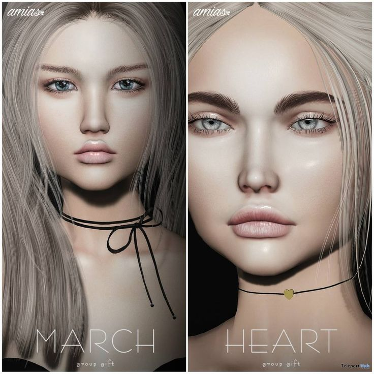Heart Choker & Necklace March 2018 Group Gift by amias