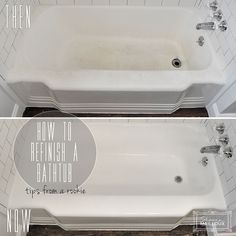 DIY Bathtub Refinishing - Roll the enamel on really thick, but without leaving harsh edges - Never let the roller become dry - If the roller starts to look damaged, replace it with a new one immediately - Apply as fast as you can!