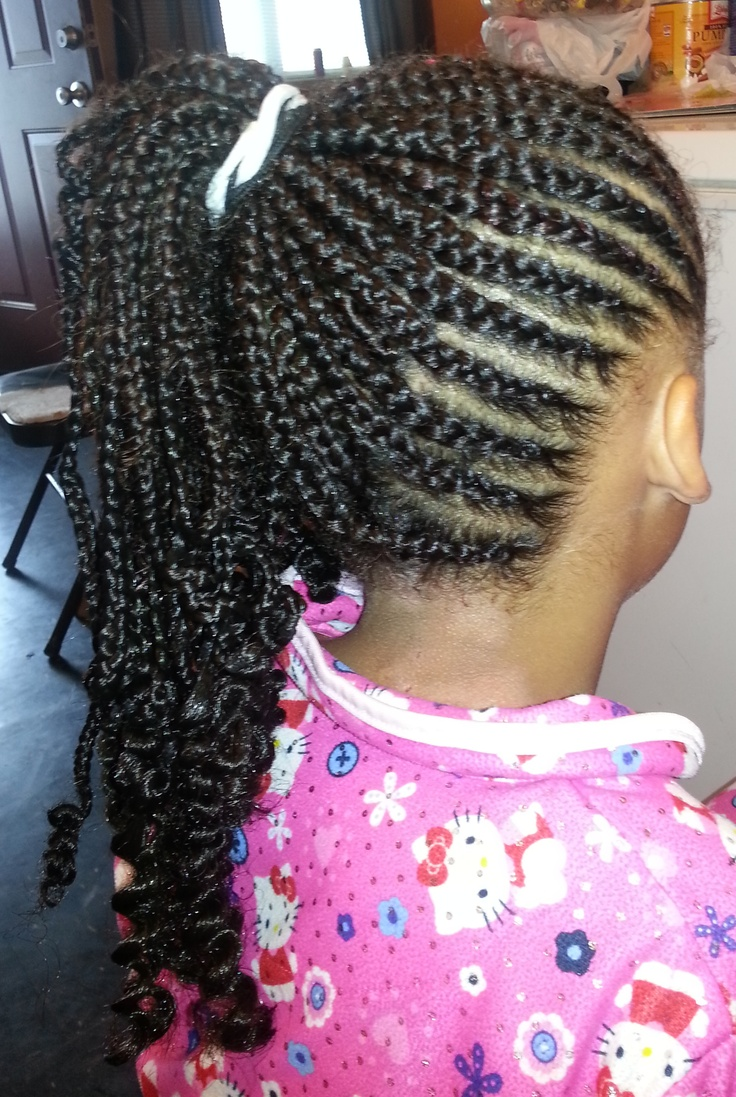 Kiera S New Style From The Side Quot My Daughter Quot Girl Hairstyles Cornrow Styles For Little Girls Braided Hairstyles