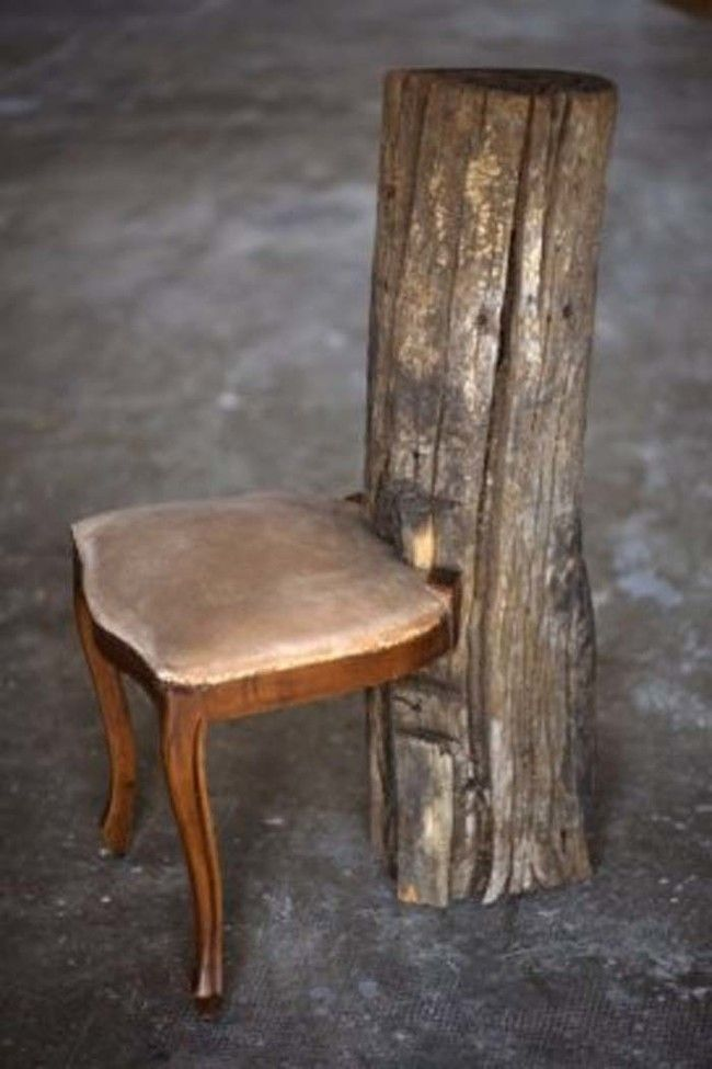 A vintage chair, fallen tree hybrid