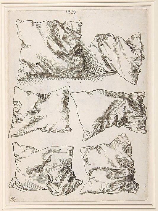 // Albrecht Dürer studies with pillows 1493
