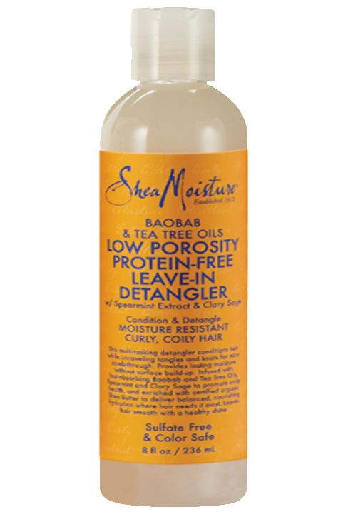 Baobab & Tea Tree Oils Low Porosity Protein-Free Leave-In Detangler - Apply to damp hair. Gently detangle using fingers or a wide tooth comb starting at ends and working towards scalp.