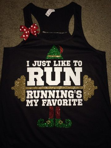 I Just Like To Run - Running's My Favorite - Elf Tank - LIMITED EDITION – Ruffles with Love
