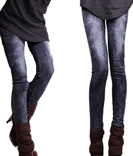 EASY Womens Ladies Slim Seamless Jeggings Look Tights Leggings black >>> You can get more details by clicking on the image.