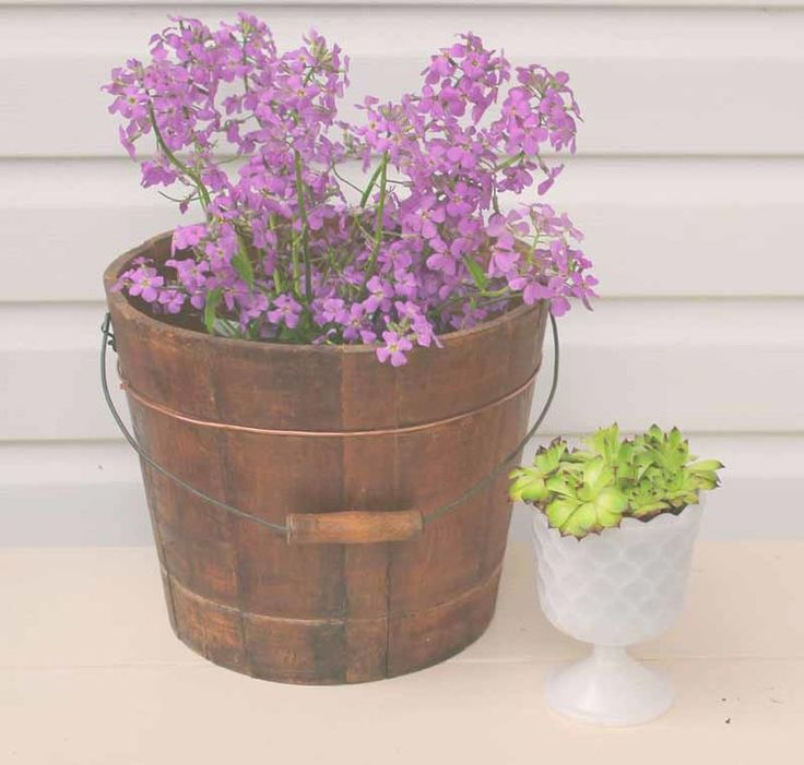 This wooden bucket can be used for flowers, drinks, cards - anything you can think of.