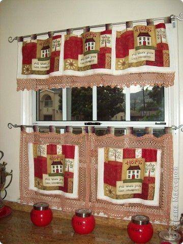 Кухонные занавески Вязание крючком