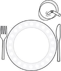Dessine ton repas préféré dans l'assiette. Téléchargez et imprimez le dessin. #enfant #jeux #dessin