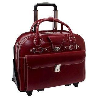 McKlein La Grange Leather Vertical Detachable Rolling Laptop Case   Overstock.com Shopping - The Best Deals on Rolling Laptop & Tablet Cases