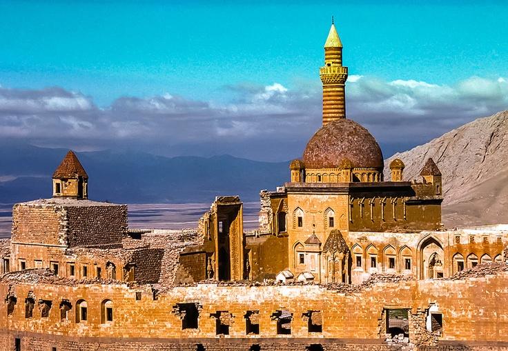 Ishak Pasha Palace (Turkish: İshak Paşa Sarayı) is a semi-ruined palace and administrative complex located in the Doğubeyazıt district of Ağrı province of eastern Turkey.