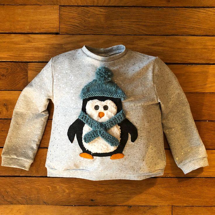 J'ai déjà fait pas mal de trucs très cute mais là je crois que c'est mon préféré... Petit sweat pour la #filleulechérie dont le doudou est un pingouin (sorry, un «penguin» !!). Meilleur #abasleschutes ever avec le reste d'un jersey étoilé @atelierdelacreation, un jersey de laine @sacres_coupons, une peau de mouton que j'ai rasée @mercerie_rascol et un peu de feutrine orange. Bonnet et écharpes tricotés en #dropslima d'un futur pull 😉 Patron du gilet #babymonceau @fanny_cozylittleworld…