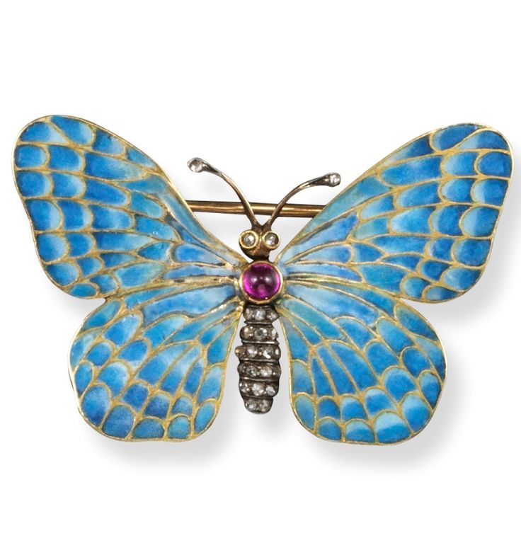An early 20th century gold silver and enamel butterfly brooch, with maker's mark H.B and Austrian marks for Vienna.