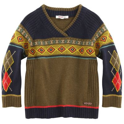 Kenzo Kids - Jacquard knit sweater - 18175