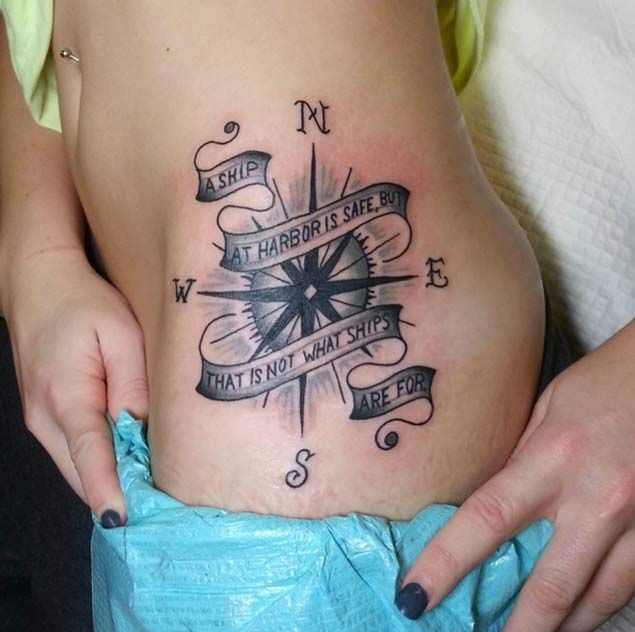 Compass Tattoo by Sally Simmons