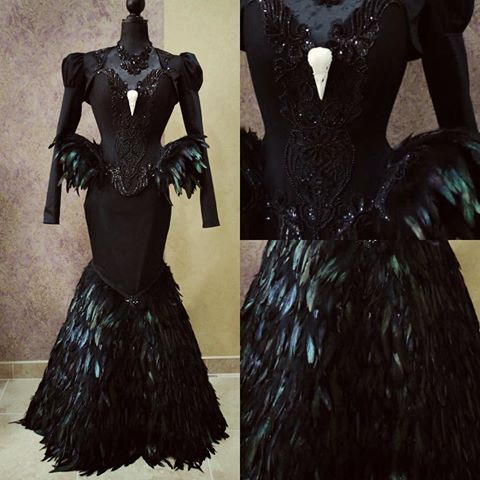 I'd share this pic of the #crow #costume I made in March ✂️                                                                                                                                                     More