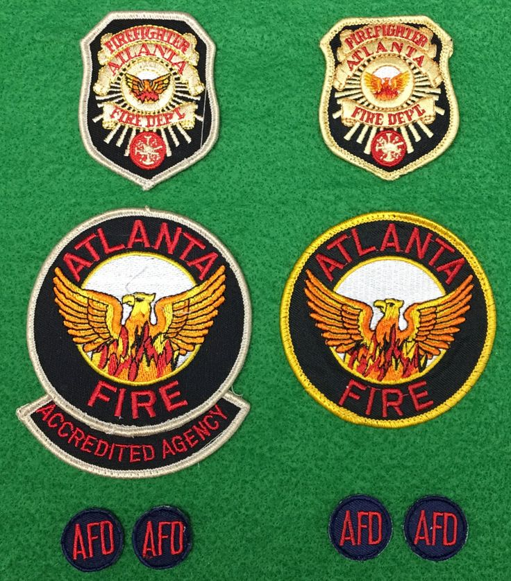 Lot of 9 Atlanta Fire Department Patches by CoryCranksOutHats on Etsy